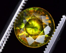 1.10 CT NATURAL SPARKLING DIAMOND CUT COLOR CHANGE GREEN SPHENE