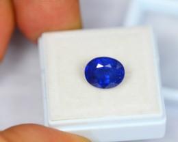 3.80Ct Natural Ceylon Blue Sapphire Oval Cut Lot LZ556