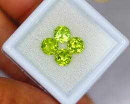 3.05Ct Natural Green Peridot Round Cut Lot V1307