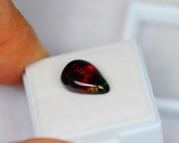 2.53ct Natural Ethiopian Welo Solid Black Opal Lot GW1307