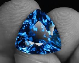 Top Color 11.78 ct Natural London Blue Topaz SKU.1