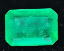 GiL Cert Colombian Emerald  5.20 ct Amazing Color Good Saturation