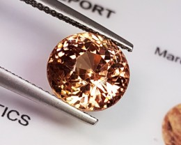 """5.26  ct """"IGI Certified""""  Awesome Oval Cut Natural Zircon"""