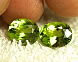 8.55 Tcw. Matched Himalayan Peridots - Gorgeous
