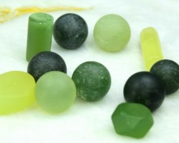 No Reserve - 94 cts lot of mix  un polished nephrite and jade balls