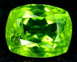 3.70 cts Cushion Cut Natural Olivine Green Natural Peridot Gemstone