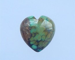 15.5ct For lover Heart Shape Turquoise Cabochon(18042202)