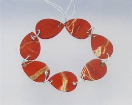 147ct 30mm New Design Red River Jasper Necklace(18042204)