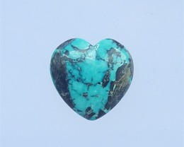 17.5ct Beautiful Heart Shape Turquoise Cabochon(18042212)