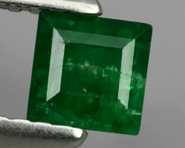 NATURAL EMERALD TOP COLOR ZAMBIA SQUARE CUTTING