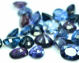 23 cts Oval ,Pear and Round Cut Cobalt Blue Spinel Ceylon Unheated and Untr