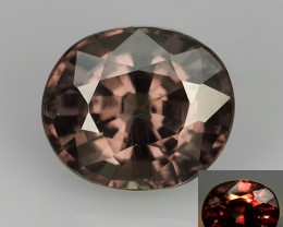 1.55 CTS DAZZLING RAREST NATURAL TOP LUSTER COLOUR CHANG GARNET OVAL GEM