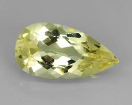 5.60 cts Sparkling Luster - pear Gem - Natural Fine Green Beryl