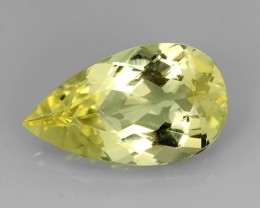 7.30 CTS.REMARKABLE! PEAR FACET GREEN BERYL NATURAL NR!
