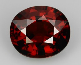 3.55 CTS-EXQUISITE NATURAL UNHEATED RED FIRE COLOR OVAL SPESSARTITE $599