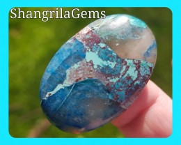 36mm Lightning Azurite cabochon from Arizona USA 33ct