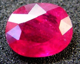 EYE CLEAN SPARKLING OVAL RUBY 1.95 CTS RM 109