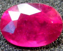 EYE CLEAN SPARKLING OVAL RUBY 1 CTS RM 114