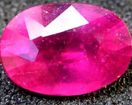 F/S EYE CLEAN SPARKLING OVAL RUBY 1 CTS RM 118