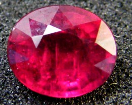 F/ S EYE CLEAN SPARKLING OVAL RUBY 1.35 CTS RM 122