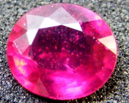 EYE CLEAN SPARKLING OVAL RUBY 1.10 CTS RM 124
