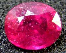 EYE CLEAN SPARKLING OVAL RUBY 0.90 CTS RM 139