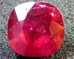 F/S  CLEAN PIGEON BLOOD RED RUBY 6.90 CTS RM 143