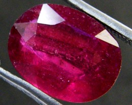 EYE CLEAN PIGEON BLOOD RED RUBY 4.10 CTS RM 144