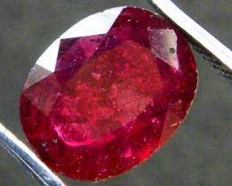 EYE CLEAN PIGEON BLOOD RED RUBY 3.20 CTS RM 145