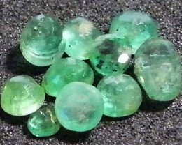 PARCEL FACETED EMERALD STONES 2.15 CTS SGS 21
