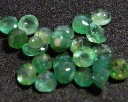 PARCEL FACETED EMERALD STONES 3.75 CTS SGS 25