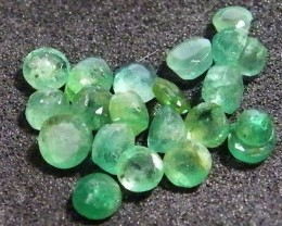 PARCEL FACETED EMERALD STONES 3.50 CTS SGS 32