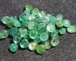 PARCEL FACETED EMERALD STONES 7.5 CTS SGS 42