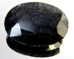 NATURAL METALLIC SHEEN BLACK SAPPHIRE STONE 38.55 CT SGS 120