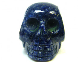 LAPIS  SKULL  SKELETON CARVING    67.65GRAMS   AG648