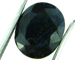 NATURAL METALLIC SHEEN BLUE SAPPHIRE STONE 4.95 CTS SGS 141