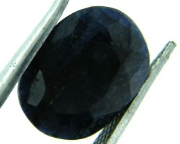 NATURAL METALLIC SHEEN BLUE SAPPHIRE STONE 6.15 CTS SGS 145