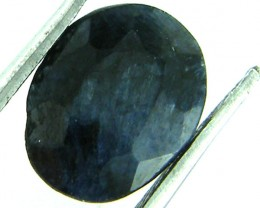 NATURAL METALLIC SHEEN BLUE SAPPHIRE STONE 3.75 CTS SGS 154