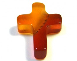 CARVED AGATE CROSS 1.70 CTS SGS 160