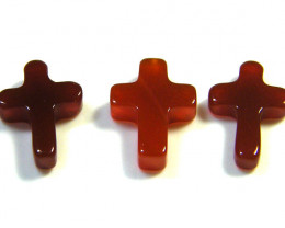 PARCEL CARVED AGATE CROSSES 4.60 CTS SGS 167