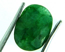 GREEN EMERALD STONE 4 CTS SGS 185