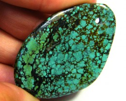 75 CTS LARGE  TURQUOISE BEAD 75 CTS SGS 205