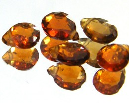 PARCEL WOW RED SPARKLING SAPPHIRE BEADS 2.50 CTS SGS 241