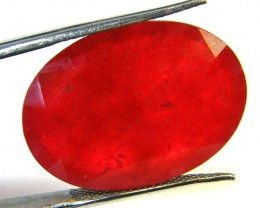 Quartz Ruby Red colour  24.65  carats   QU 171