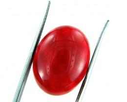 Quartz Ruby Red colour  15.65  carats   QU 203