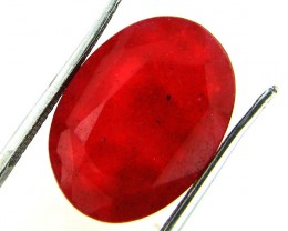 Quartz Ruby Red colour  9.85  carats   QU 204