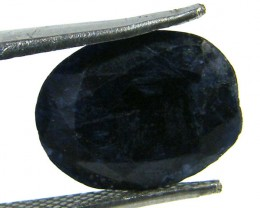 NATURAL METALLIC SHEEN BLUE SAPPHIRE STONE 3.75 CTS SGS 297