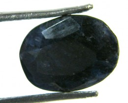 NATURAL METALLIC SHEEN BLUE SAPPHIRE STONE 3.75 CTS SGS 299