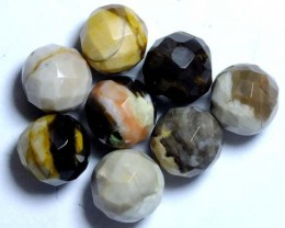 PETRIFIED WOOD BEADS, (8PC) 64.25CTS NP-1032