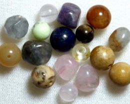 ASSORTED NATURAL STONE (PARCEL) DRILLED 50CTS NP-575